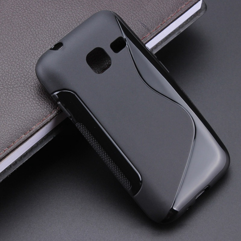 S line Anti Skidding Gel TPU Slim Soft Case Back Cover For <font><b>Samsung</b></font> <font><b>Galaxy</b></font> <font><b>J1</b></font> Nxt / <font><b>J1</b></font> <font><b>mini</b></font> J105 <font><b>J105H</b></font> J105F <font><b>SM</b></font>-<font><b>J105H</b></font> image