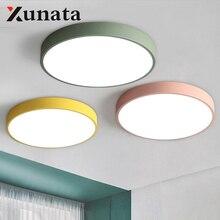 Plafoniera a LED 12W 18W moderna in lega acrilica rotonda sottile plafoniera a LED illuminazione a soffitto a LED per camera da letto Foyer