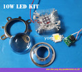 Round hole 44mm Lens kit + 10W Cool White / warm whtie LED + 10Watt Driver + 10w Heatsink DIY