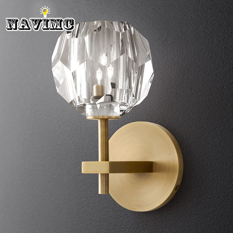 Nordic Style Wall Lamp Copper LED Wall Lights simple Light Glass Fixtures For Home Lighting Bedside Sconce Luminaire modern glass led wall lamp bathroom light simple wall sconce for bar cafe indoor home lighting bedside lights luminaire