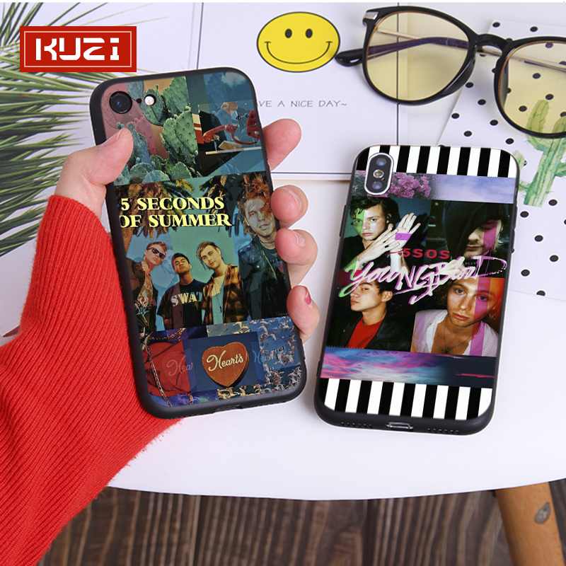Kuzi TV Show Person Print Case for Iphone X XS 8 7 6 6s Plus Coque Fundas Capa Soft Silicone Covers for Iphone 7 7Plus Case in Half wrapped Cases from Cellphones Telecommunications