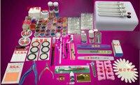 1323 UV lamp Brush Remover nail tips glue Acrylic Liquid Powder Glitter Clipper Primer File Nail Art Tips Tool Brush Tool Set