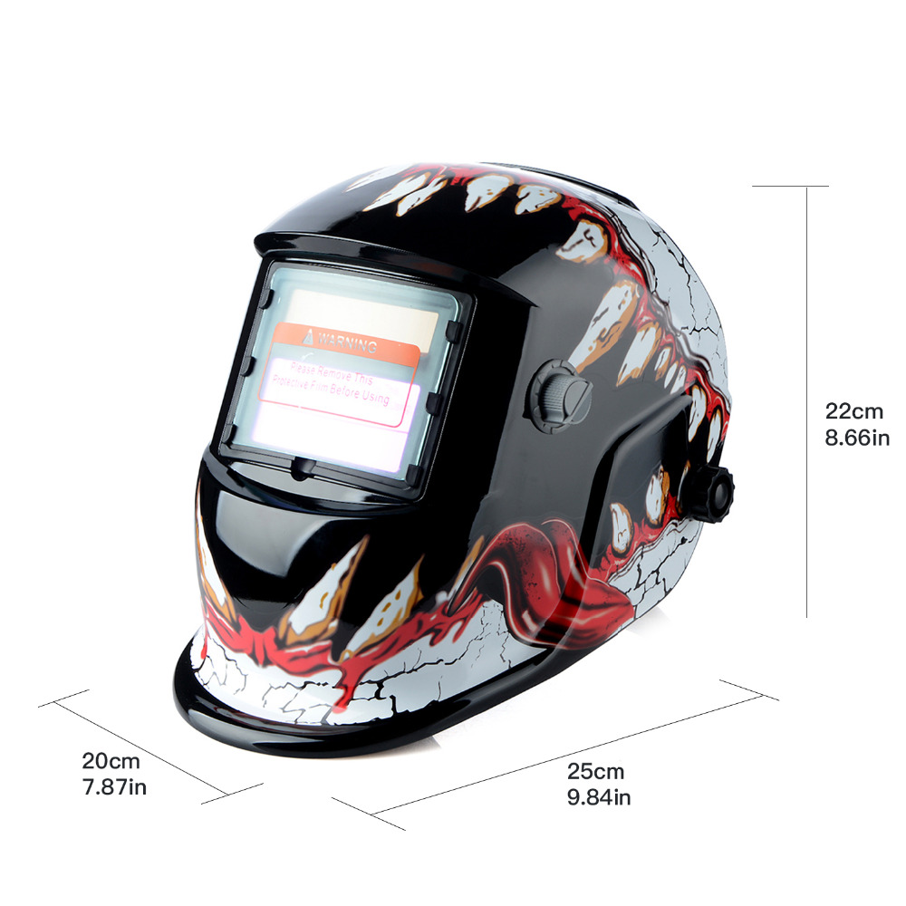 New Solar Auto Darkening Welder Welding Helmet ARC TIG MIG Grinding Mask Mouth welder helmet mag tig grinding function polished chrome for free post