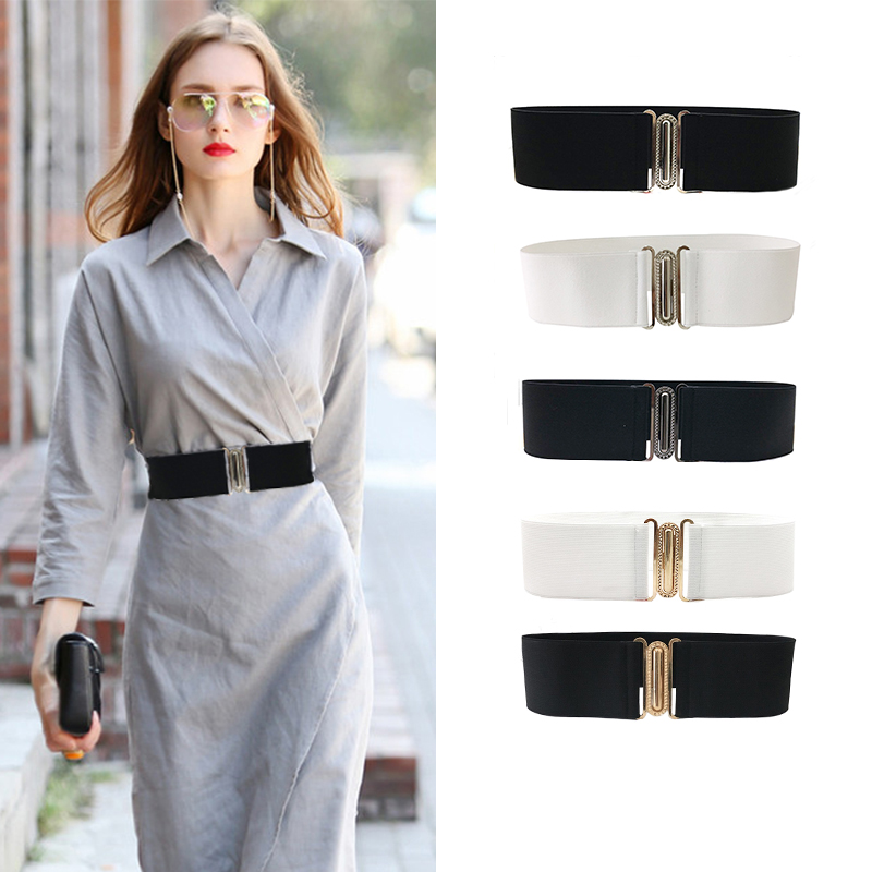 Seabigtoo designer   belts   for women fashion 2018 ladies   belts   female elastic   belt   retro metal buckle waist cummerbund corset   belt