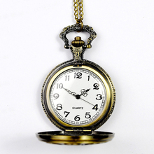 OTOKY Pocket Watch Vintage Bronze Quartz Pocket Watch