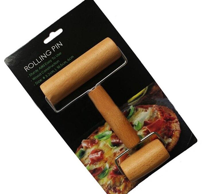 Hete Verkoop Hout Gebak Pizza Roller Handvat Keuken Gadget Koken Gereedschap Deegroller Keuken Eetkamer Bar Bakvormen Rolling Pins