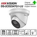 Hikvision ColorVu оригинальная ip-камера DS-2CD2347G1-LU 4MP сетевая пуля POE ip-камера H.265 CCTV камера слот для sd-карты