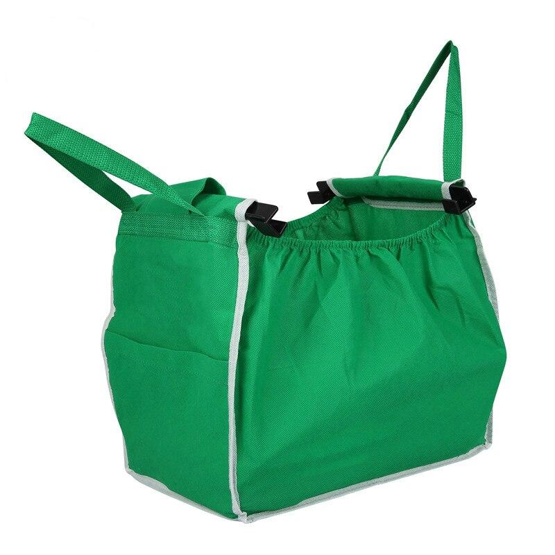 2ad2193cd54 1Pcs Supermarket Shopping Bag Foldable Tote Reusable Big-size Washable  Eco-friendly Grab Bag Supermarket Trolley Bag Storage Bag