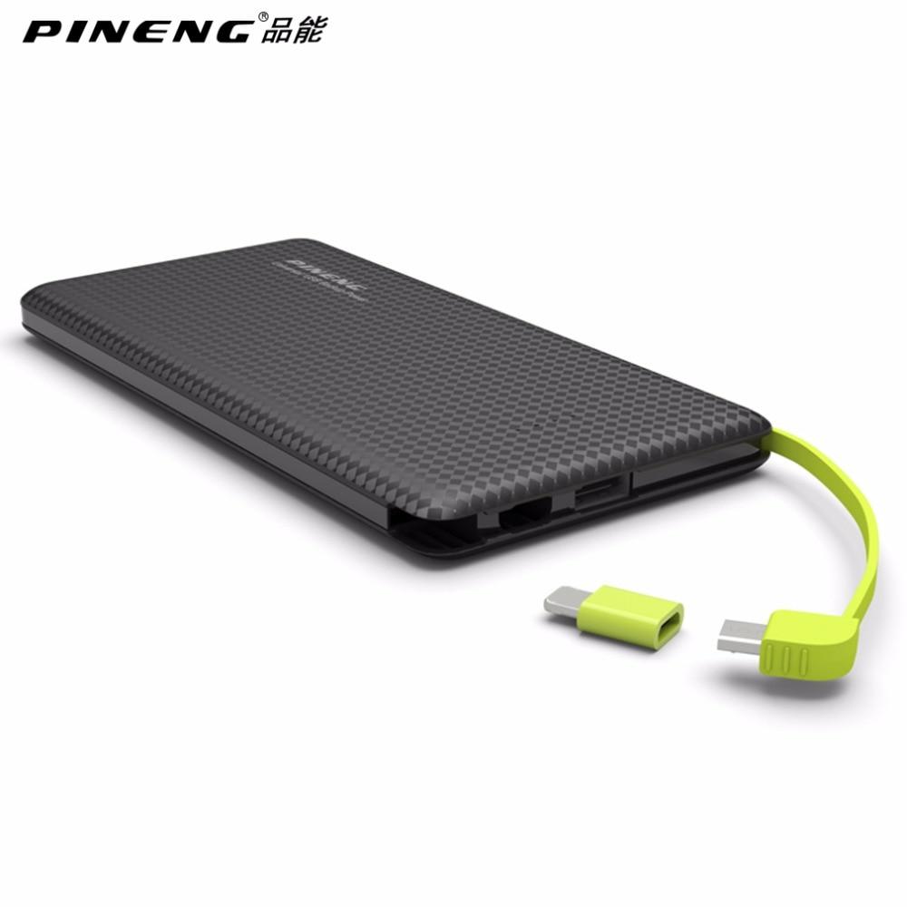 imágenes para 100% Original PN-951 PINENG 10000 mAh Portátil De Batería de Carga Rápida Banco Móvil de Doble Salida USB Cargador de Li-Polímero