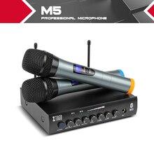 XTUGA Wielofunkcyjny bezprzewodowy mikrofon mic party bar 2 hand held M5 TV odtwarzacz karaoke
