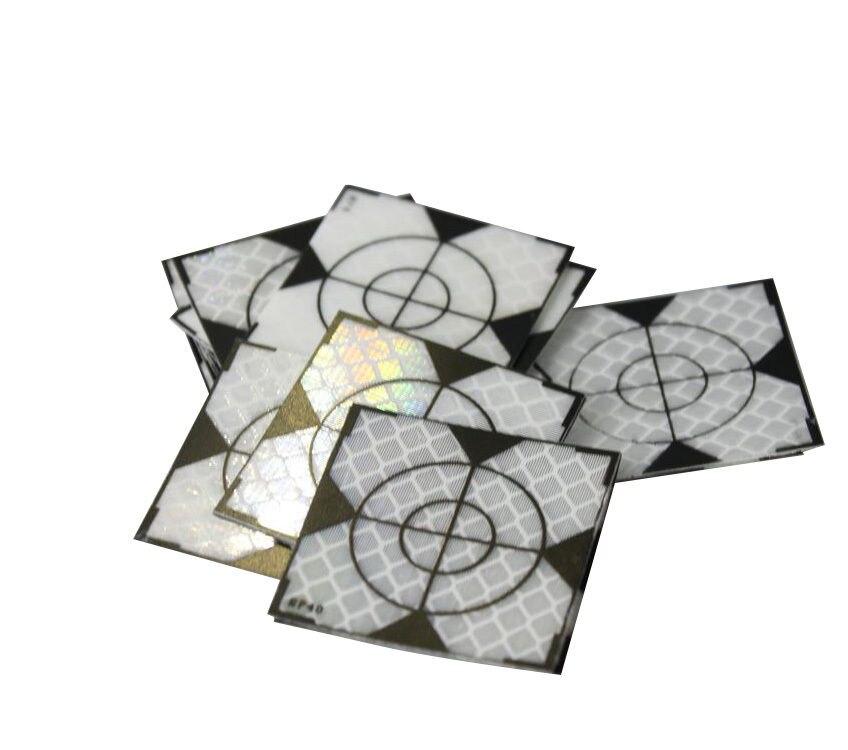 100 шт. отражатель 40 х 40 мм (40x40) светоотражающие ленты Целевая тахеометр