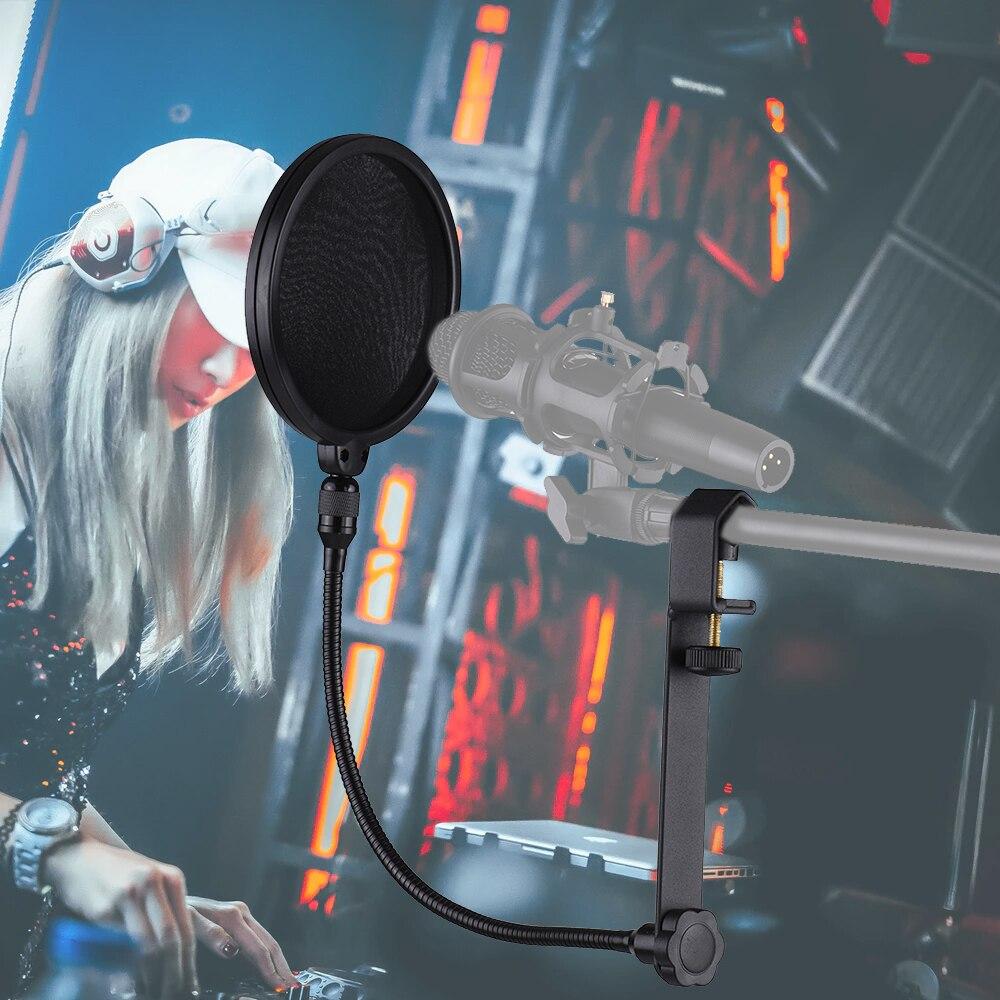 Samson Ps01 Microphone Double Layer Pop Filter Daftar Harga Ganda Mikrofon Bop Windscreen Nylon Mesh Screen Universal Mic Stand Mounting Blowout Preventer Bracket