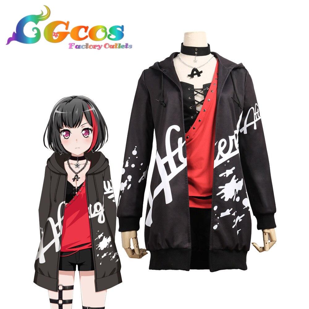 CGCOS Cosplay Estrondo Sonho! Afterglow segunda chave visual Mitake Correu Diária Anime Traje Uniforme Halloween Anime Jogo