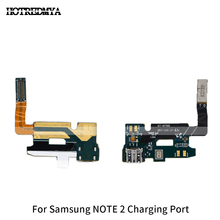Charger Port Flex Cable For Samsung Galaxy Note 2 N7100 N7100 N7105 I317 USB Dock Microphone Connector Replacement Repair Parts все цены