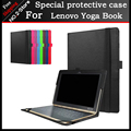 Para Lenovo yoga Tablet livro Capa, 10.1 polegada Moda Lichee padrão Fique Virar Capa Protetora Para Lenovo yoga livro