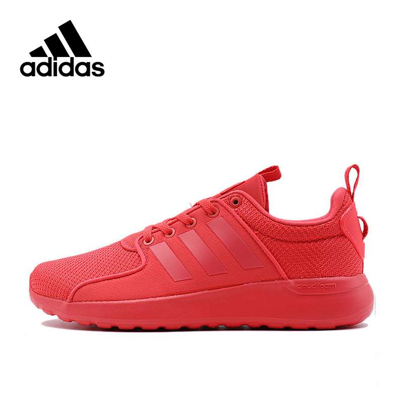 Red Adidas Original NEO Label LITE RACER Women's Skateboarding Shoes Women Sneakers for Unisex