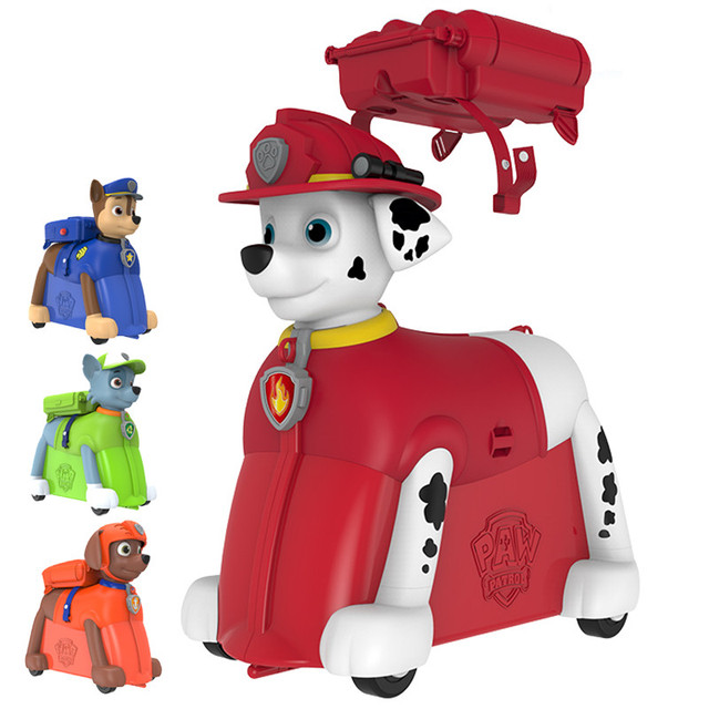US $110 98  Paw patrol dog chase zuma marshall removable bag Backpack  Riding box kids Birthday gift Toys Dolls Genuine-in Action & Toy Figures  from