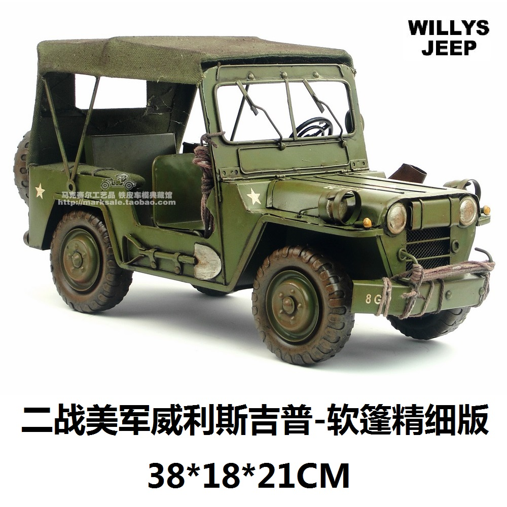 Military Jeep For Sale >> Us 109 48 8 Off Hot Classic World War Ii Willis Military Jeep Off Road Vehicle Model Creative Gift Home Bar Decoration In Statues Sculptures From