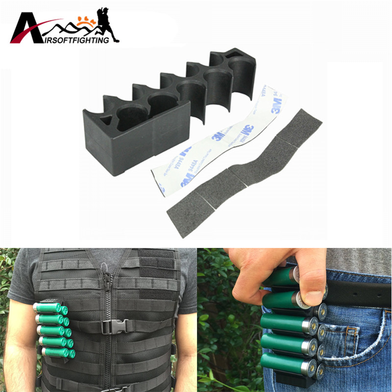 FMA 10 Shell Tactical Shotgun 12 Gauge Shell Holder Hunting Attachable Molle Vest Belt Clip Shell Holster W/ 3M Adhesive Tape