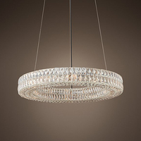 Modern Vintage Luxury K9 Crystal Chandelier Lighting Round Cristal Candle Chandeliers Pendant Hanging Light