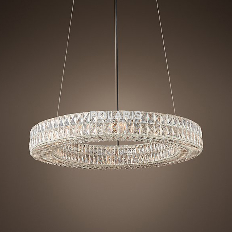 Modern Vintage Luxury K9 Crystal Chandelier Lighting Round