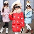 2016 meninas jaqueta de Inverno meninas novas crianças Coreano moda casual menina dos desenhos animados casaco simples