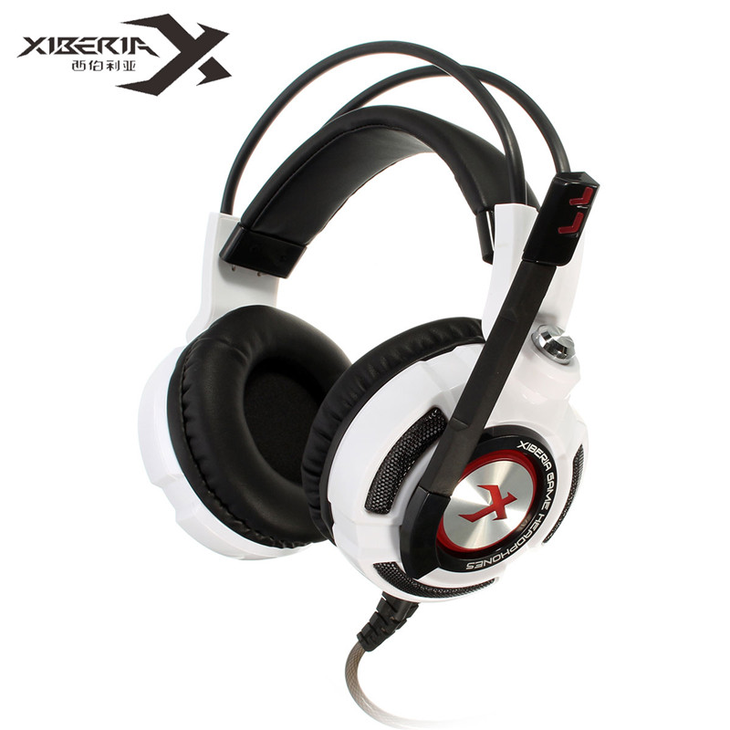Original XIBERIA K3 Gaming Headphones Virtual 7.1 Surround Stereo Bass LED Light Gaming Headsets With Microphones For PC Gamer each g8200 gaming headphone 7 1 surround usb vibration game headset headband earphone with mic led light for fone pc gamer ps4