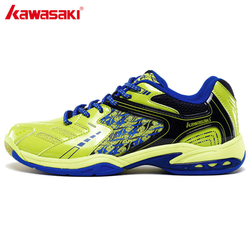 KAWASAKI Badminton Shoes Sports Shoes for Men Women PU Leather and Breathable Mesh Indoor Court Sneakers K-335 336 100% original kawasaki badminton shoes men and women badminton training shoes whirlwind series k 515 516