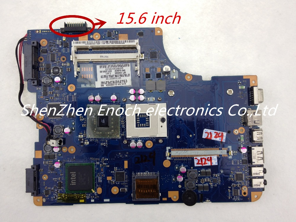 все цены на  For Toshiba Satellite L500 Laptop Motherboard Integrated K000083110 KSWAA LA-4981P DDR2 for 15.6 inch  LCD  stock No.999  онлайн