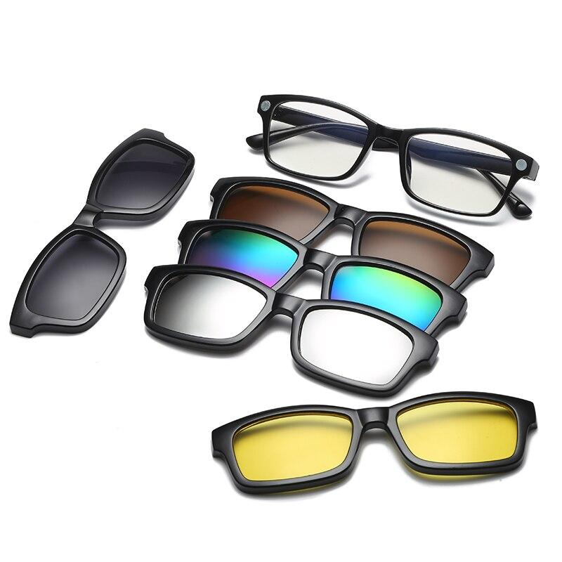 5 Objektiv Clip Auf Sonnenbrille Clip Auf Brille Platz Objektiv Männer Frauen Spiegel Clip Sonnenbrille Nachtsicht Fahren Sonnenbrille Für Männer äRger LöSchen Und Durst LöSchen