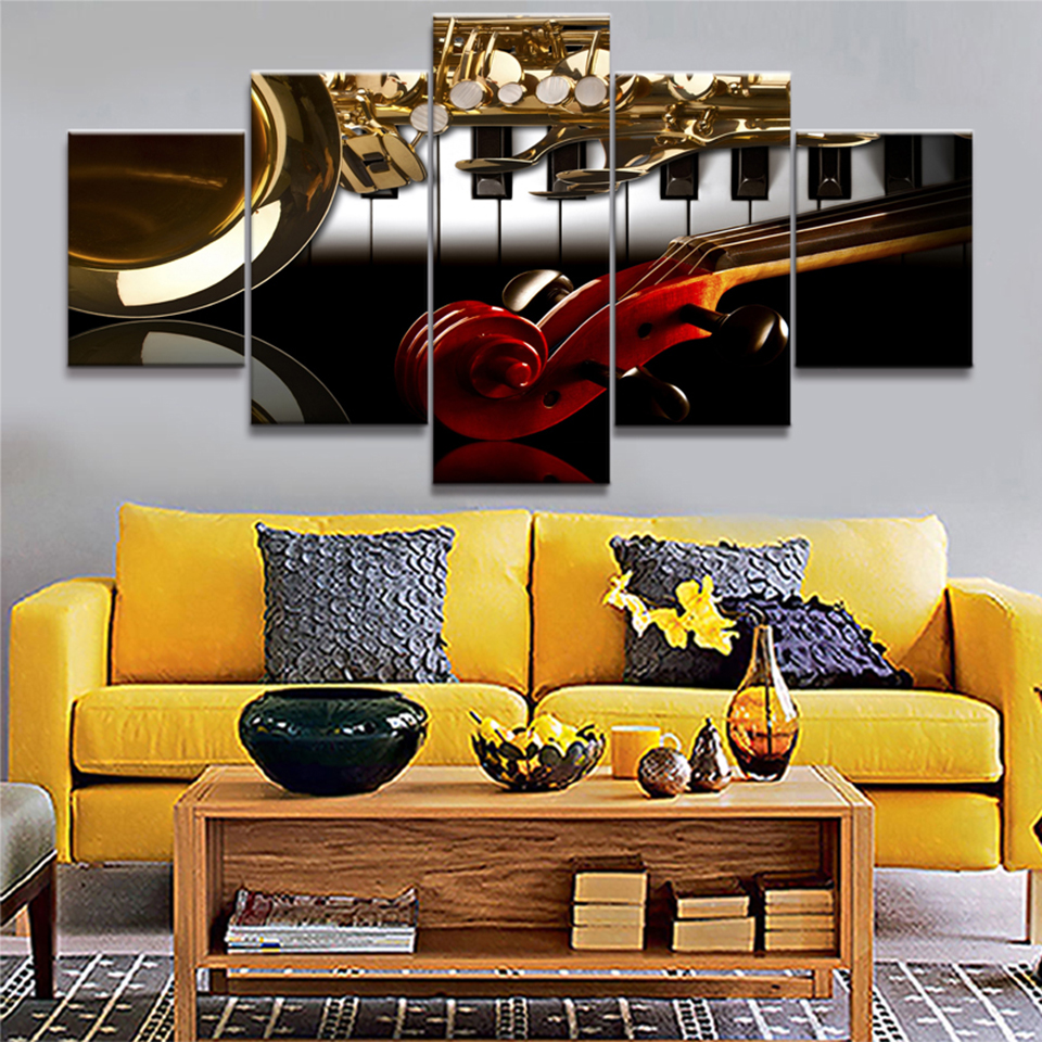 Western Decor Paint: Decor Living Room Wall Art Pictures Framed 5 Panel Western
