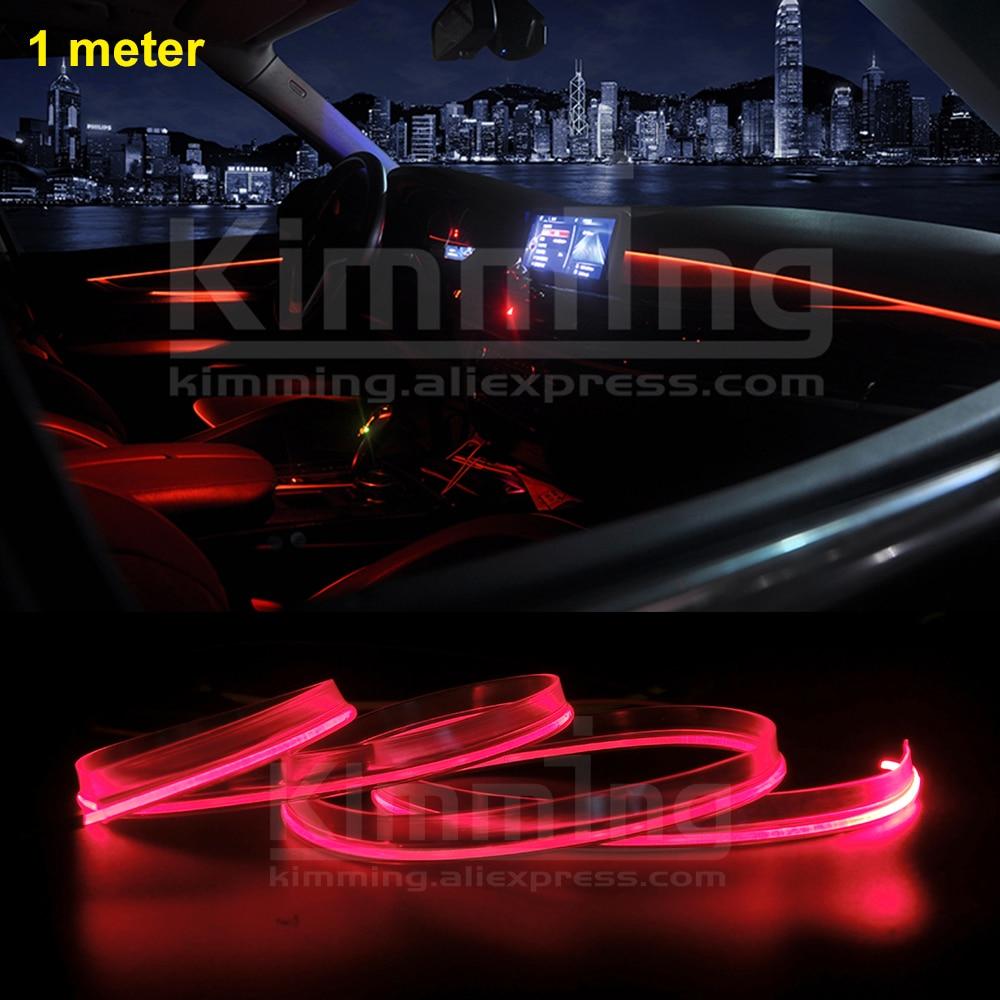 1meter Universal Car Interior Ambient Light Panel Illumination For Car Inside Cool Strip Light