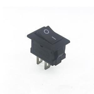 Image 5 - 20 個ミニロッカースイッチ spst 黒と赤でスナップスイッチボタン ac 250 v 3A / 125 v 6A 2 ピン i/o 10*15 ミリメートルオン · オフスイッチロッカー