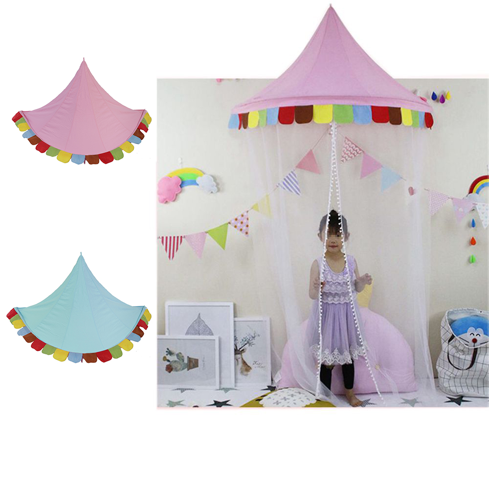 Kids Princess Teepees Children Play Tents Indoor Portable Play House Crib Tent Baby Room Decorations Bed Curtains Birthday Gifts