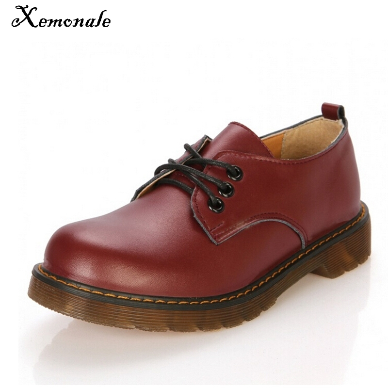 Xemonale New Women Genuine Leather Oxfords Lace Up Solid Platform Shoes Woman For Autumn Flats Moccasins Oxford Shoes XWD4218 qmn women crystal embellished natural suede brogue shoes women square toe platform oxfords shoes woman genuine leather flats
