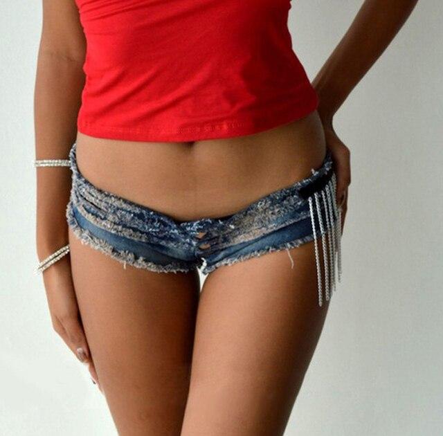 1pcs Womens jeans denim shorts pants 2017Summer Hot  Fashion Sexy tassel Blue super shorts Ladies Skinny jeans short pants Girls