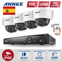 ANNKE New 4CH CCTV NVR System POE NVR 1080P Video Ourput 4PCS 2 0 Mp 1080p
