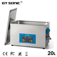 GT SONIC Digital 20L 400W 40kHz Ultrasonic Cleaner Heated Timer Stainless Bath Baskets Industrial Parts Medical Lab Instruments