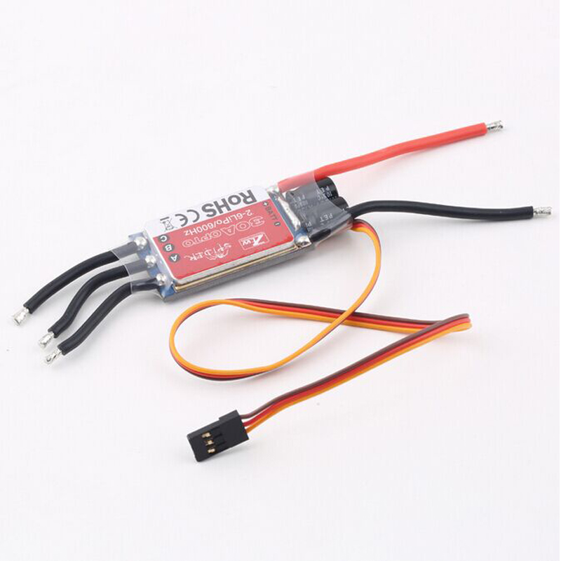 1pcs New ZTW Spider Series 20A 30A 40A OPTO Brushless Speed Controllor ESC for Multicopter 2-6S Lipo 600HZ 30a esc welding plug brushless electric speed control 4v 16v voltage
