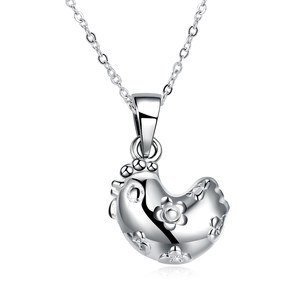 Popular Necklace Fashion Jewelry Silver Plated Pendant Necklace For Women Classic jewelry Romantic Christmas Gift