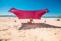 Strand Parasol Strand Tent Met Zandzak Ankers & 2 GRATIS Polen UPF50 + Kwaliteit Lycra Stof-Perfect Zon Onderdak