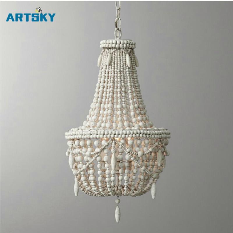 popular wood bead chandelier buy cheap wood bead. Black Bedroom Furniture Sets. Home Design Ideas