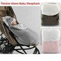 Multifuncional Saco de Dormir Do Bebê Inverno Engrossar Quente cobertor Do Bebê saco de dormir carrinho de bebê Footmuff assento da segurança do bebê sleepsack