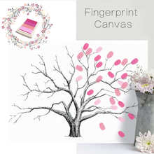 Creative Wedding Tree Signature Guest Book Fingerprint DIY Canvas Baby Shower Attendance Marriage Gift Wedding Wall Decoration(China)
