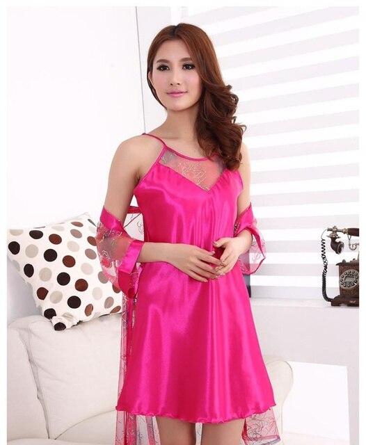 Ixuejie Women Nightdress Set Fshion Floral Clothing Sleepwear Sleepdress Sexy lace HollowTransparent  Nightgowns Dress