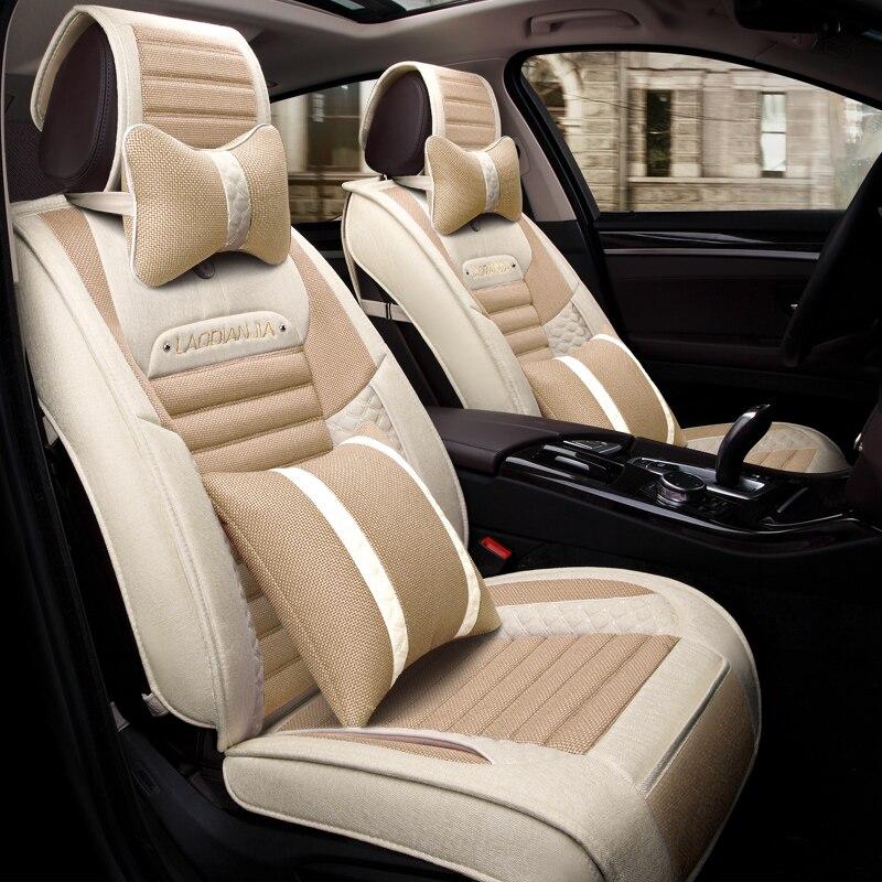 Car Seat Cover Flax Car Styling For Toyota Camry 40 Corolla RAV4 Verso FJ Land Cruiser