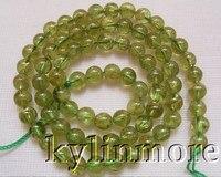 5mm Natural Peridot Round Beads 15