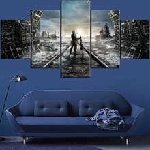 Game Metro Exodus 5 Piece Modern Home Decor HD Print Wall Art Canvas Art For Living Painting Wall Art Home Painting Artwork ravnica allegiance game modern home decor hd print wall art canvas art for living painting wall art 5 piece home painting