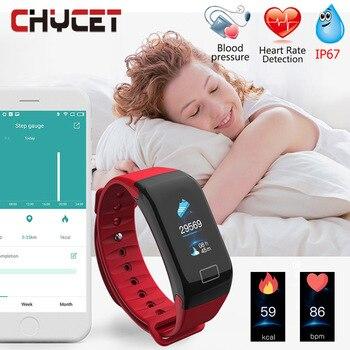 Smart Band Blood Pressure Oxygen Heart Rate Monitor Fitness Bracelet Waterproof GPS Fitness Tracker Watch Pedometer Women Men