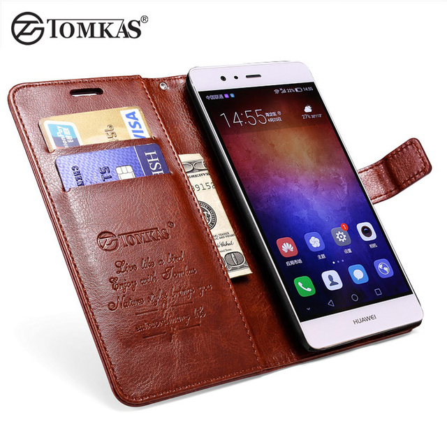 huawei phones p9. tomkas wallet case for huawei p9 lite luxury pu leather business flip style with stand phone phones